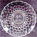 Click here to enlarge image and see more about item AAA402: Anchor Hocking - Bubble Crystal Saucer