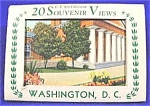 Click here to enlarge image and see more about item AAA40: Souvenir Linen Post Card Set ~ Washington, D.C. ~