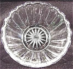Click here to enlarge image and see more about item AAA411: Pattern Glass - Fruit or Sauce Dish Bowl - Dew Drop