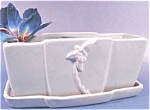 Click here to enlarge image and see more about item AAA415: Vintage Haeger Planter ~ Blue ~ 1946