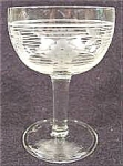Antique Crystal Cordial Wine Set - Engraved Grapes