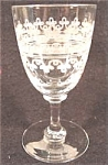 Click here to enlarge image and see more about item AAA435: Antique Needle Engraved Crystal Cordial Wine