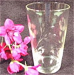 Click here to enlarge image and see more about item AAA436: Crystal Engraved Juice Tumblers - Pair - Antique