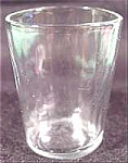 Antique Shot Glass Whiskey Taster ~ Clear