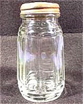 Click here to enlarge image and see more about item AAA490: Kitchen Collectibles ~ Early Clear Glass Shaker