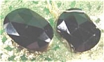 Faceted Black Glass Buttons ?  Beads ?