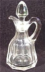 Click here to enlarge image and see more about item AAA511: Antique Glass Cruet with Vertical Panels