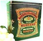 Click here to enlarge image and see more about item AAA526: Vintage Mustard Tin - Barringer and Brown's - England
