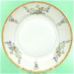Click here to enlarge image and see more about item AAA531: Vintage UCAGO 9in Handpainted Dinner Plate