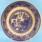 Click here to enlarge image and see more about item AAA540: Vintage Blue Willow Dinner Plate
