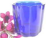 Click here to enlarge image and see more about item AAA550: Fenton Glass Trinket Box - Cobalt - Missing Lid