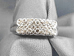 Click here to enlarge image and see more about item AAA580: 14K W.G. Ladies Pave Diamond Ring - Size 6.5