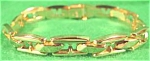 Click here to enlarge image and see more about item AAA593: 14K Y.G. Italian Stampato Gents Bracelet - 8in