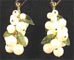Click here to enlarge image and see more about item AAA594: Avon Pearlesque Pierced Dangle Earrings - 1992 - MIB