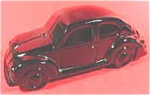 Click here to enlarge image and see more about item AAA612: Avon Glass Car Decanter - Volkswagen