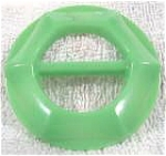 Bakelite Belt Buckle ~ Green ~ Vintage
