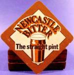 Click here to enlarge image and see more about item AAA62: Beer Tavern Coaster Mat - Newcastle - Vintage
