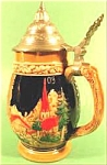 Click here to enlarge image and see more about item AAA630: German Alpine Scene Tankard Stein ~ Vintage