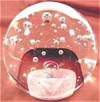 Controlled Bubble Glass Paperweight Paper Weight
