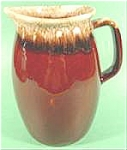 Click here to enlarge image and see more about item AAA634: Hull Mirror Brown Drip Glaze Pitcher