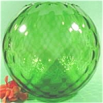 Huge Green Art Glass Ball Vase - Must See
