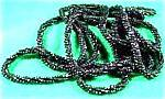 Flapper Hand Beaded Continuous Black Rope - Stunning