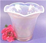 Click here to enlarge image and see more about item AAA679: Fenton Pink Champagne Satin Vase - 1997 Diamond Optic