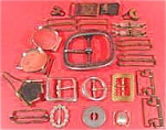 Click here to enlarge image and see more about item AAA681: Metal Buckles and Fasteners ~ Lot of 24 Pcs.