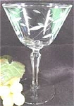 Click here to enlarge image and see more about item AAA683: Crystal Engraved Champagne Stemware
