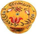 Click here to enlarge image and see more about item AAA687: Folk Art Handpainted Round Storage or Pantry  Box