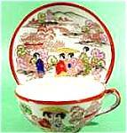Oriental Cup and Saucer - 4 Geisha - Japan