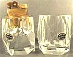 Click here to enlarge image and see more about item AAA745: Crystal Table Lighter Set ~ Hand Cut ~