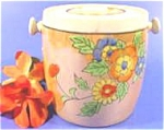 Click here to enlarge image and see more about item AAA750: Children's Oriental Miniature Porcelain Cookie Jar