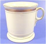 Click here to enlarge image and see more about item AAA751: Shaving Mug ~ Gold Bands ~ Nice