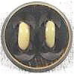 Click here to enlarge image and see more about item AAA756: Bakelite Button with Loops ~ Large