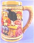 Click here to enlarge image and see more about item AAA778: Man and Woman and Castle Tankard ~ Lustre Paint
