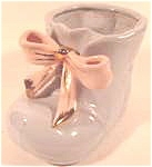Click here to enlarge image and see more about item AAA797: Ceramic Shoe Planter ~ Blue ~ Enesco ?