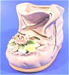 Click here to enlarge image and see more about item AAA798: Shoe Planter ~ Adorable Pink with Flowers