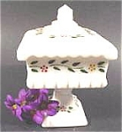 Click here to enlarge image and see more about item AAA811: Wedding Cake Square Milk Glass Dish - Westmoreland
