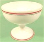 Click here to enlarge image and see more about item AAA821: Hazel Atlas Ovide Milk Glass Sherbet - Depression