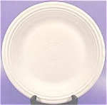 Click here to enlarge image and see more about item AAA852: Fiesta Dinner Plate ~ White ~ Post 1986