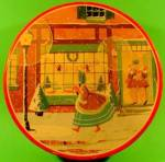 Click here to enlarge image and see more about item AAA875: Advertising CANCO Christmas Scene Tin