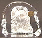 Click here to enlarge image and see more about item AAA914: Crystal Owl Paperweight Paper Weight - Sculpture - MIB