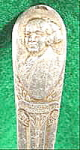 Click here to enlarge image and see more about item AAA919: Silverplated Souvenir Spoon ~ John Adams