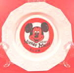 Click here to enlarge image and see more about item AAA938: Childrens Plates - Mickey Mouse Club - Disney