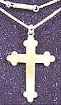 Click here to enlarge image and see more about item AAA943: Antique Cross Pendant - 14 inch Chain