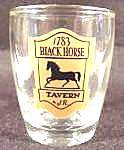 Click here to enlarge image and see more about item AAA952: Black Horse Tavern Shot Glass