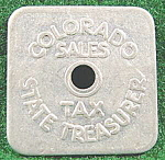 Click here to enlarge image and see more about item AAA993: Coins - Tax Token - Colorado State Sales