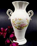 Miniature Waterlily Pattern  Vase ~ Gold Trim ~ Vintage