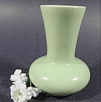 Green Semi-Matte Pottery Miniature Vase
